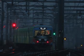 2018年10月27日 6時7分ころ、石神井公園、3番ホームを発車し急行線へ転線する20158Fの上り回送列車。