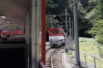 2018年9月9日 11時29分ころ、アプトいちしろ、列車から離れたED901は千頭方の引き上げ線に入っていました。