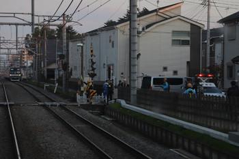 2018年11月17日 16時21分ころ、清瀬~秋津、上り列車の車内から撮影。人身事故の現場と思われます。