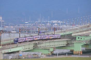 2018年10月5日 14時10分ころ、りんくうタウン~関西空港、ラッピングされた南海ラピードの空港ゆき。