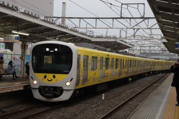 2018年12月23日 15時7分、清瀬、2番ホームへ到着する38105Fの下り臨時列車。
