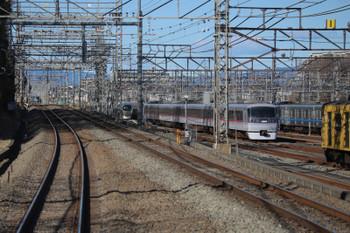 2019年1月3日 10時50分ころ、下り列車から見た小手指車両基地。