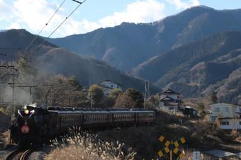 2019年1月3日 14時6分ころ、白久、熊谷ゆきのSL列車。