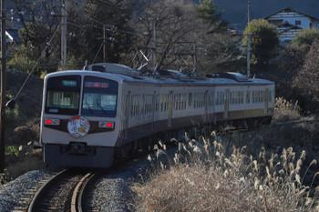 2019年1月3日 14時17分ころ、白久、6203ほかの「開運」ヘッドマーク付き急行 三峰口ゆき。