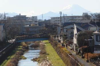 2021年1月1日 14時頃。東久留米〜清瀬。上り列車から見えた富士山。