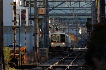2021年1月3日 15時34分頃。御花畑。到着した4005Fの下り回送列車。