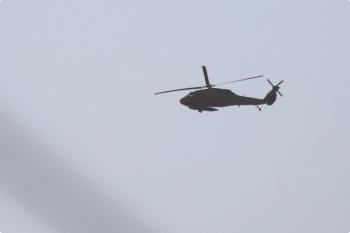 2021年1月4日 16時10分頃。元加治。軍隊のものと思われるヘリコプター。