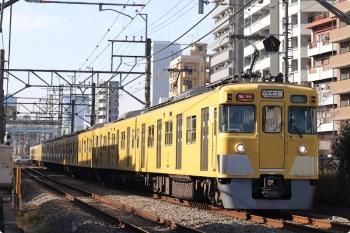 2021年1月7日。高田馬場〜下落合。2409F+2007Fの2644レ。