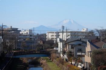 2021年1月10日。東久留米〜清瀬駅間。富士山。