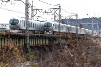 2021年1月11日。仏子〜元加治。63レ(右)と74レが入間川橋梁ですれ違い。