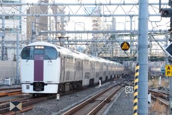 2021年1月14日 8時2分頃。品川。到着する215系の「湘南ライナー6号」3726M。
