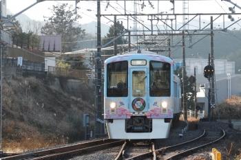 2021年1月16日 15時10分頃。高麗。到着する4009Fの上り回送列車。
