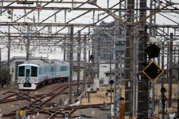 2021年1月17日 11時39分頃。所沢。4番ホームから発車し西武秩父へ向かう4009F。