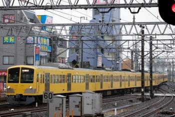 2021年1月23日 11時13分頃。所沢。下り本線を横断し6番線へ入る263F+1245Fの回送列車。