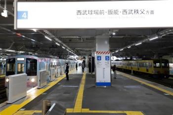 2021年1月23日 11時37分頃。所沢。4番ホームから発車する4009F(52席)の下り列車。