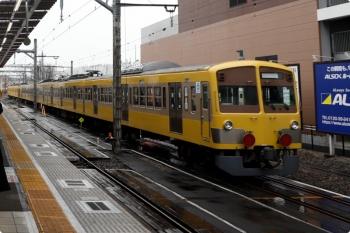 2021年1月23日 12時1分頃。所沢。6番線から新秋津駅へ発車した263F+1245Fの回送列車(右)。