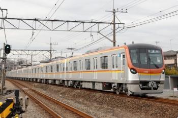2021年1月26日 13時54分頃。元加治。メトロ17002Fの上り試運転列車。