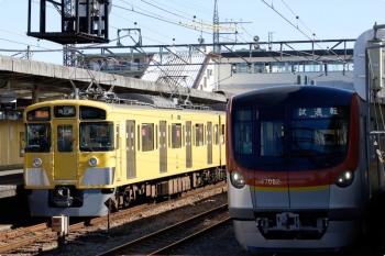 2021年1月30日。仏子。左は2461F+2087Fの2136レ。右がメトロ17002Fの下り試運転列車。
