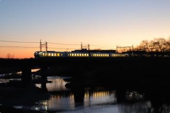 2021年1月30日。仏子〜元加治。001系の下り回送列車。
