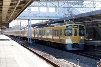 2021年1月31日。西所沢。1番ホームへ到着する2461F+2087Fの4357レ。