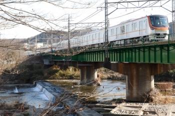 2021年2月1日 13時55分頃。仏子〜元加治駅間。メトロ17002Fの上り試運転列車。