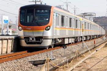 2021年2月1日 13時39分頃。元加治。メトロ17002Fの下り試運転列車。