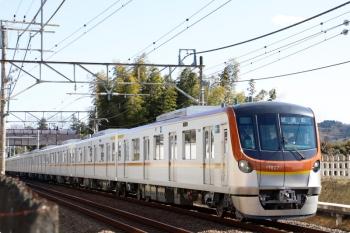 2021年2月3日 12時42分ころ。元加治〜飯能。メトロ17002Fの下り試運転列車。