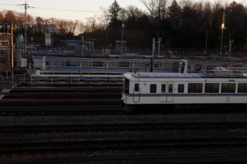 2021年2月3日。小手指車両基地。上り列車から見られた4019F。