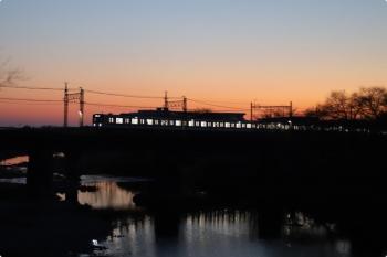 2021年2月7日。仏子〜元加治駅間。20000系の5105レ。