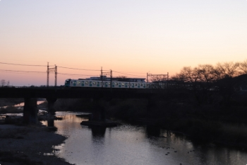 2021年2月7日。仏子〜元加治駅間。40000系の4101レ。