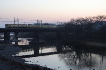 2021年2月14日。仏子〜元加治駅間。9000系の4102レ。