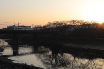 2021年2月14日。仏子〜元加治駅間。40152F(カナヘイ)の4103レ。