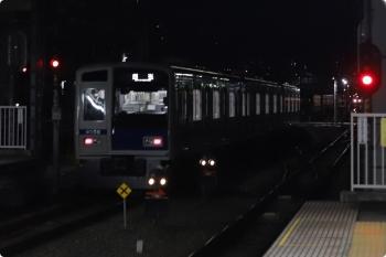 2021年2月16日 5時48分頃。保谷。2番ホームから下り方へ発車した6156Fの回送列車。