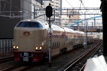 2021年2月19日 7時18分頃。蒲田。通過する285系の上りサンライズ出雲・瀬戸。