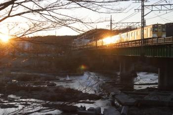 2021年2月20日 6時41分頃。仏子〜元加治。9104Fの上り回送列車。