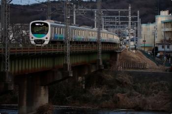 2021年2月23日。仏子〜元加治駅間。38114Fの1002レ。