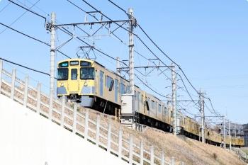 2021年2月28日。西所沢〜下山口駅間。2461F+2087Fの4357レ。