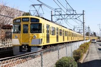 2021年2月28日。下山口〜西武球場前駅間。2461F+2087Fの6140レ。