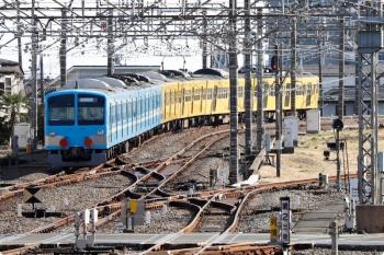 2021年2月28日 14時56分頃。所沢。6番線から発車した1251F(潮風)+263F(左)の下り回送列車。