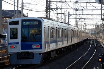 2021年3月3日 7時28分ころ。西所沢。メトロ車の55S運用・4556レを西武6111Fが代走。