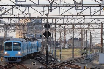 2021年3月4日 6時38分頃。所沢。3108レの後に、1251Fの上り回送列車が6番線へ到着。