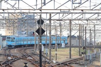 2021年3月4日 6時46分頃。所沢。6番線で折り返し西所沢駅へ向かう1251Fの下り回送列車。