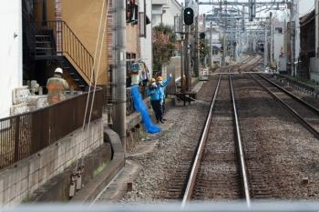 2021年3月6日。池袋〜椎名町。上り列車の車内から見えた、沿線火災現場の後。