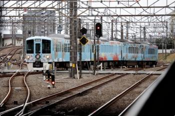 2021年3月7日 11時34分頃。所沢。新宿方から池袋線へ入る4009F(52席)の下り列車。