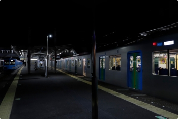 2021年3月11日。西所沢。1251Fの6209レ(左)と、停車した40106FのS-TRAIN 501レ(右)。