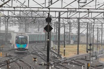 2021年3月13日 8時20分頃。所沢。4番ホームから発車した40102Fの71M運用・S-TRAIN 西武秩父ゆき。