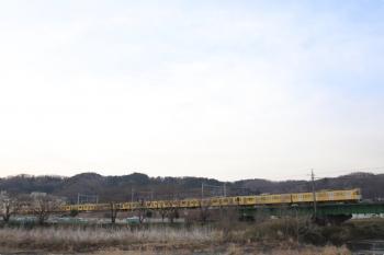 2021年3月19日。仏子〜元加治駅間。N2000系2+8連の2108レ。