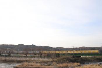 2021年3月19日。仏子〜元加治駅間。6050系の2504レとN2000系2+8連の4103レがすれ違い。