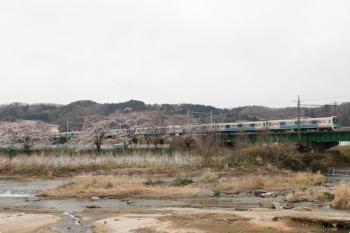 2021年3月25日。仏子〜元加治駅間。30103F(観光広告)の2140レ。