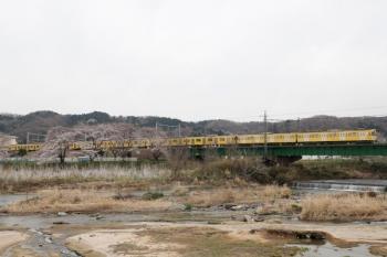 2021年3月25日。仏子〜元加治駅間。2465F+2077Fの2135レ。